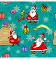 christmas cartoon seamless pattern wrapper vector image