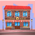 coffee house cafe building on street image vector image