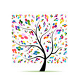 colorful art tree for your design vector image vector image