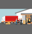 concept of warehouse with vector image vector image
