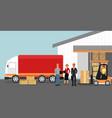 concept warehouse vector image