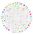 confetti stars spiral cluster vector image vector image