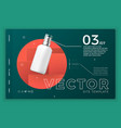 cosmetic spray bottle modern site template vector image vector image