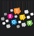 creative happy new year 2019 design vector image vector image