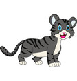 cute grey cat cartoon vector image