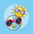 cute sun design vector image
