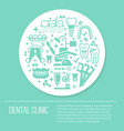 dentist orthodontics blue medical banner with vector image vector image
