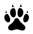 dog paw print icon sign symbol vector image vector image