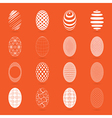 Easter eggs on a orange background vector image vector image