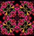 embroidery floral seamless pattern damask style vector image vector image