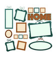 empty vintage wooden frames for home photo vector image vector image