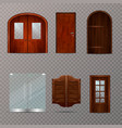 entrance doors transparent set vector image vector image