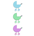 fabric or paper plaid baby stickers of stroller vector image