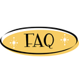 FAQ web button vector image vector image