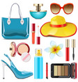 female summer accessories vector image vector image