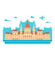 flat design budapest parliament vector image