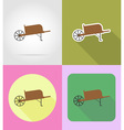 garden tools flat icons 12 vector image vector image