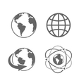 Globe earth icons