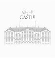 hand drawn line art old royal castle vector image vector image