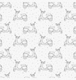 hand drawn seamless pattern with retro scooters vector image vector image