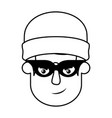 head of man with mask of thief avatar character vector image