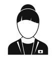 health nurse icon simple style vector image vector image