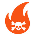 hellfire flat icon vector image