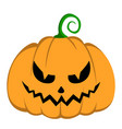 isolated halloween jack-o-lantern vector image