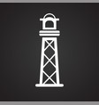 lighthouse icon on background for graphic and we vector image