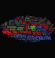 Live for good health text background word cloud