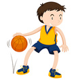 Male athlete playing basketball vector image