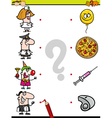 match elements education game vector image vector image