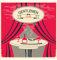 mens club red room with table and alcohol vector image vector image
