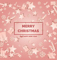 merry christmas and happy new year poster vector image vector image