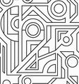 monochrome geometric seamless texture vector image vector image