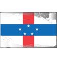 Netherlands Antilles flag vector image vector image