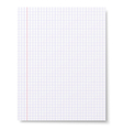 Notebook squared paper background vector image