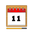 On the eleventh day in the calendar vector image vector image