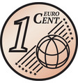 one euro cent coin vector image