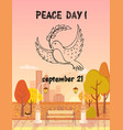 peace day september 21 autumn vector image vector image