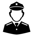 policeman sign icon vector image vector image