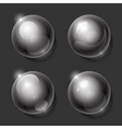 Realistic shiny transparent glass spheres set vector image vector image