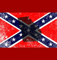 rebel civil war flag with georgia map vector image vector image