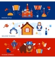 Russia travel banner set vector image vector image