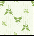 seamless floral pattern wallpaper with green leave vector image vector image