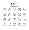 set line icons soil vector image