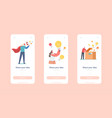 share idea mobile app page onboard screen template vector image vector image