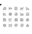 simple set diagrams related line icons vector image