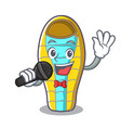 singing sleeping bad mascot cartoon vector image