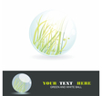 Sphere with grass inside shiny ball Eco symbol vector image vector image